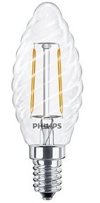 PHILIPS LED лампа 2.3W E14 2700K шишарка