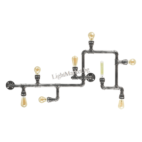 IDEAL LUX Модерен Плафон PLUMBER PL8 175331 8xE27